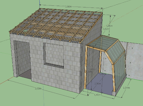 Plan abri de jardin parpaing une pente for Construction garage parpaing plan