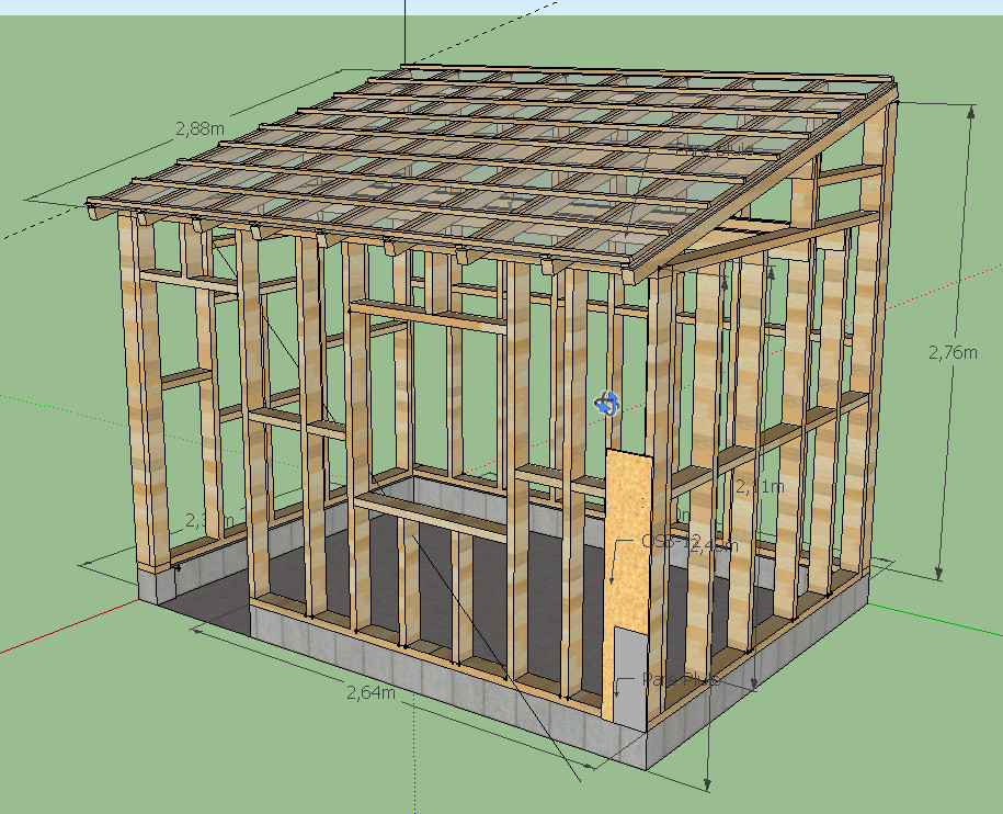 Plan construction cabanon for Cabanon de jardin bois